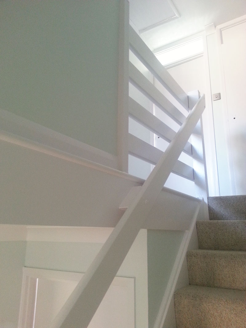 finished banisters