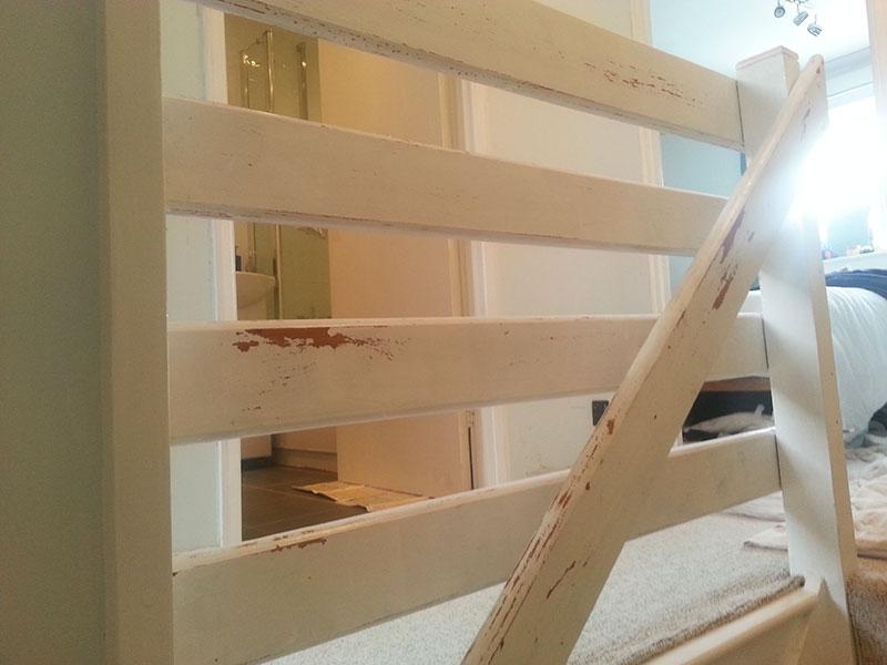 wooden banister preparation